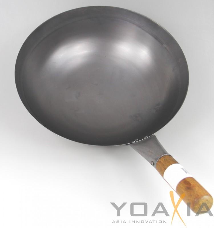 wok 33 cm runder boden 1 asiatische eisenpfanne. Black Bedroom Furniture Sets. Home Design Ideas