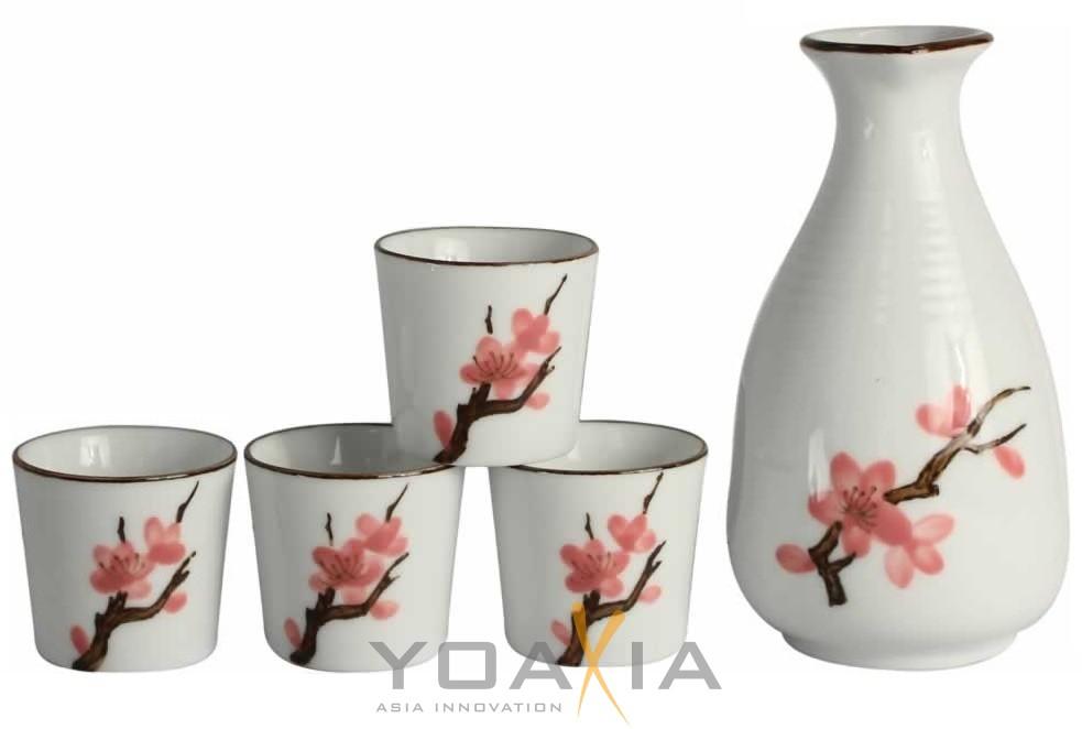 5-teiliges Porzellan Sake Set aus der Serie \